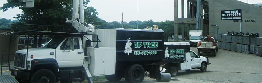 GP Tree tree trimming truck serving Massillon, OH